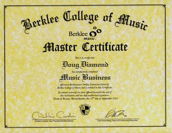 Berklee College of Music Certification